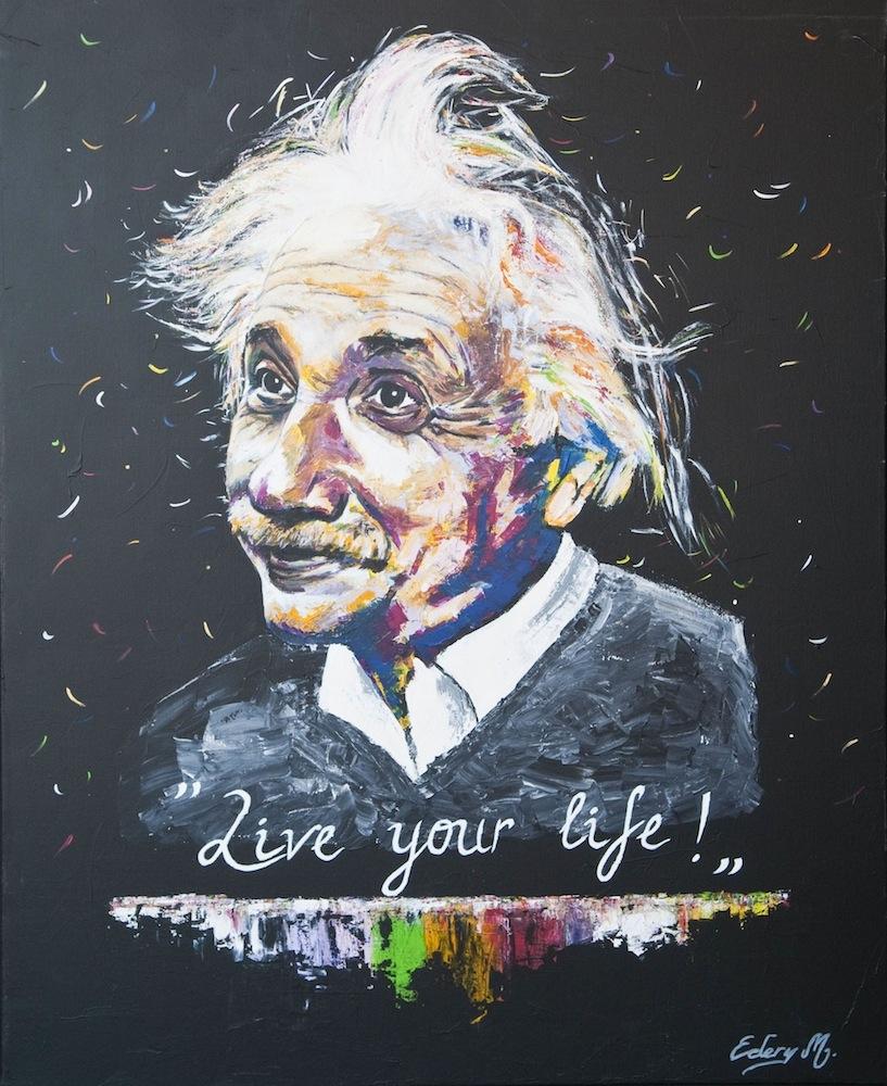 Albert Einstein - live your life 116 x 89