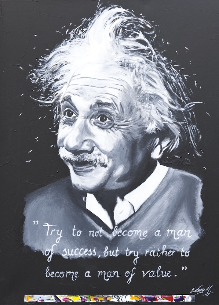Albert Einstein - man of value 116 x 89