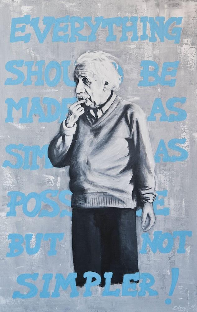 Albert Einstein -simpler 93 x 60