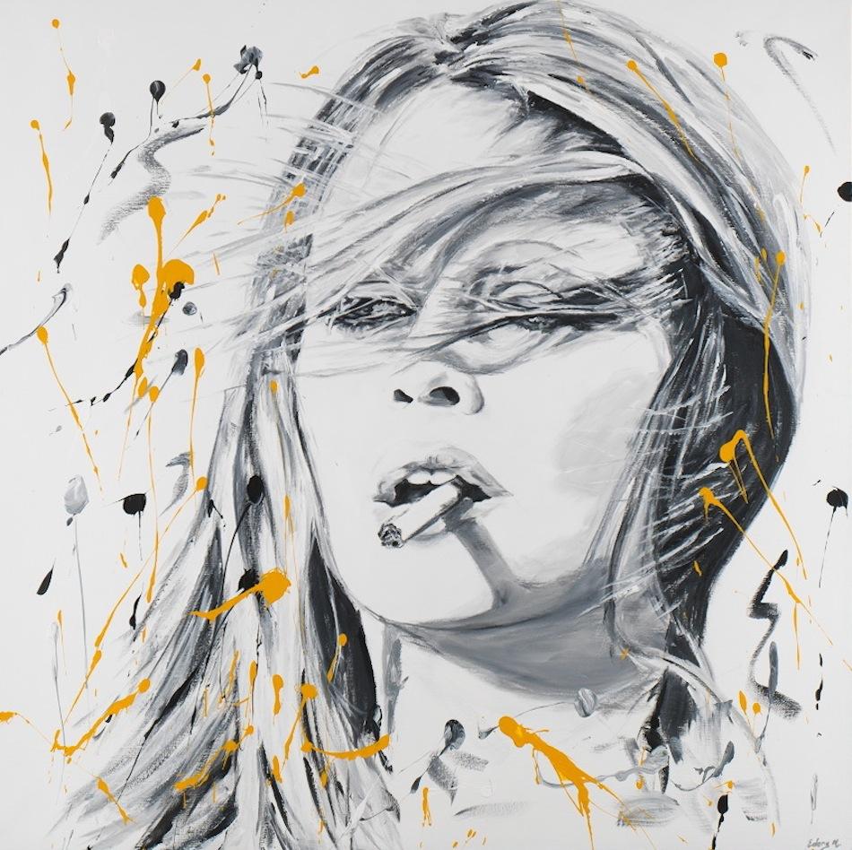 Brigitte Bardot 120 x 120