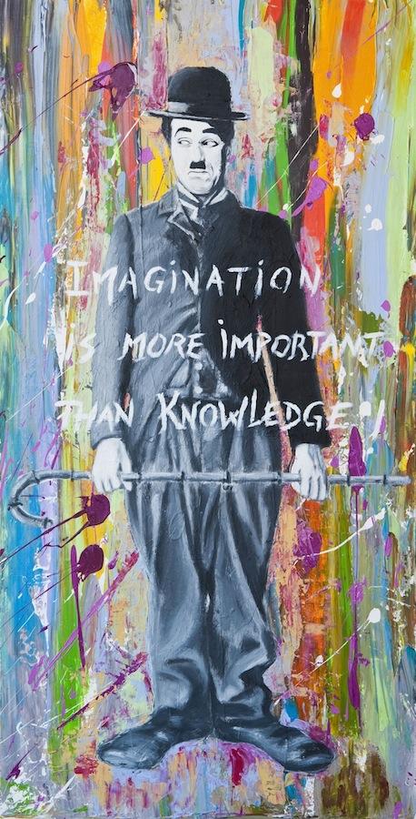 Charlie Chaplin - imagination 100 x 50