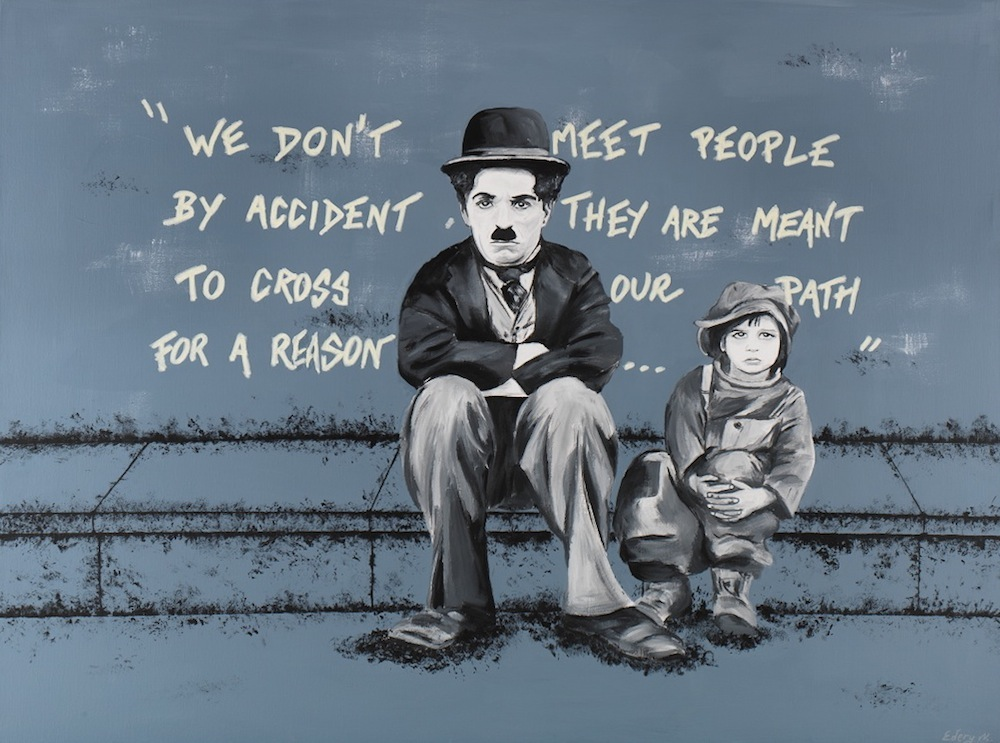 Charlie Chaplin le kid for a reason 130 x 97