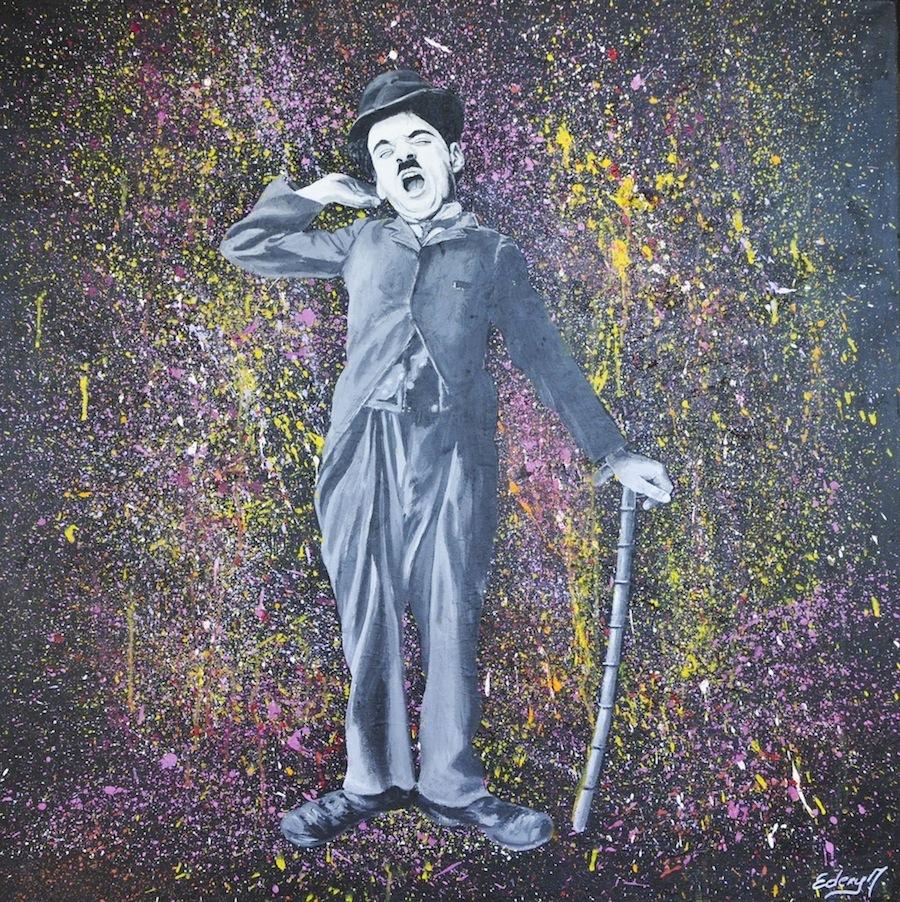 Charlie Chaplin - sommeil 100 x 100