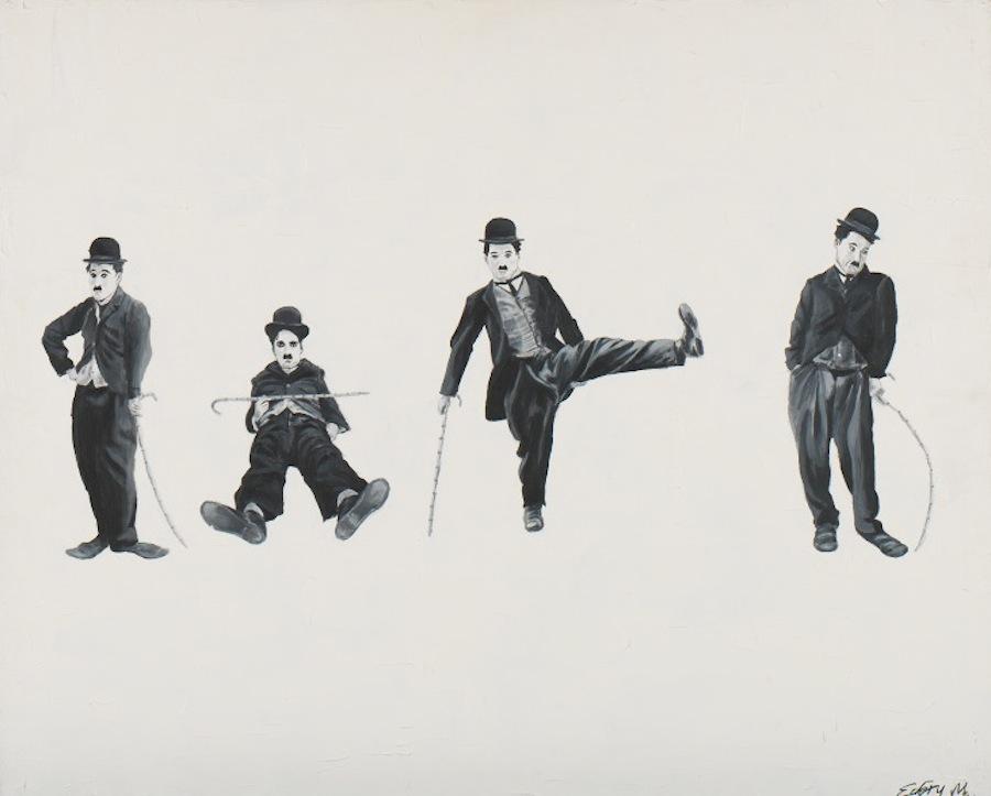 Charlie Chaplin x 4. 100 x 81