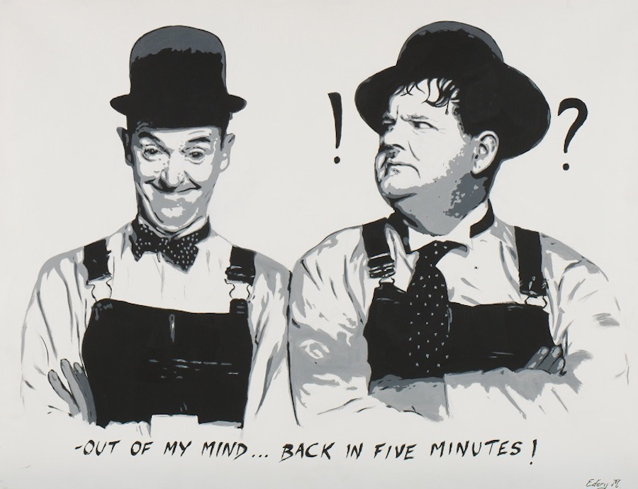 Laurel et Hardy - back in 5 mn 116 x 89
