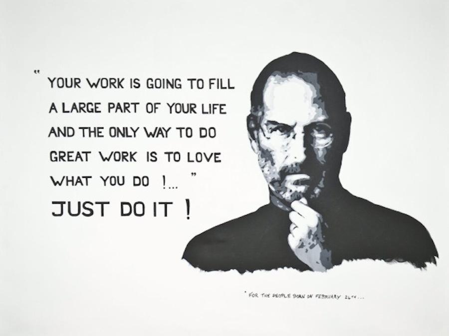 Steve Jobs. 100 x 81