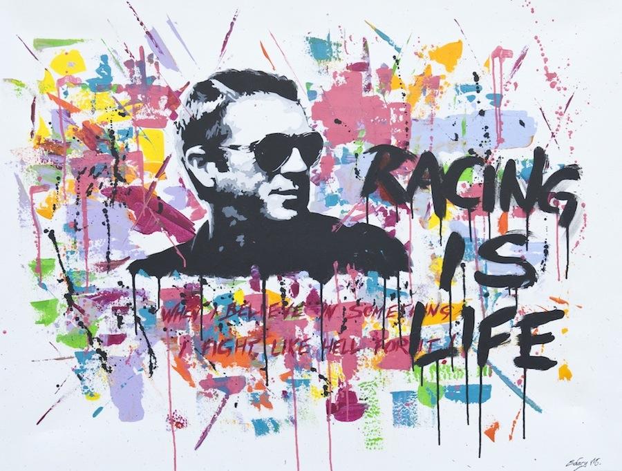 Steve McQueen - racing is life 116 x 89