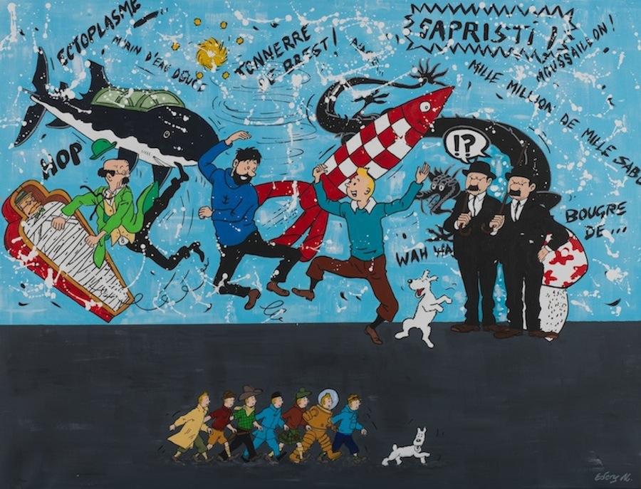 Tintin et ses amis 116 x 89