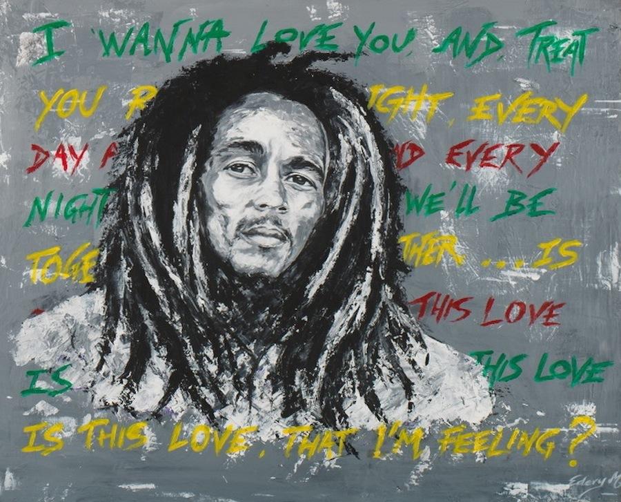 bob Marley 100 x 81