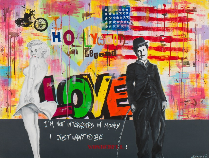 charlie et marylin love 116 x89